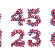 Stock Photo: Abstract 3D font numerals and symbols