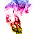 Abstract puff of colorful smoke on white — Zdjęcie stockowe