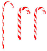 Festive Candy canes isolated — Stock Photo