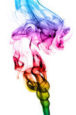 Abstract puff of colorful smoke on white — Stock Photo