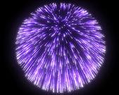Festive purple fireworks at night — Stock Photo