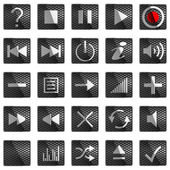 Square Control panel buttons — Stock Photo