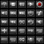 Square pressed Control panel buttons — Stock Photo