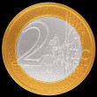 2 Euro: EuropeUnion currency — Zdjęcie stockowe #4905533