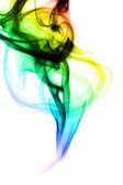 Colorful Abstraction. Fume shape on white — Stock Photo