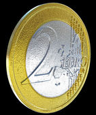 2 Euro: European currency coin — Stock Photo
