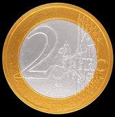 2 Euro: European Union currency — Stock Photo