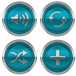 Blue Control panel buttons isolated — Stock Photo #4944300