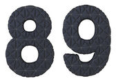 Stitched leather font 8 9 numerals — Stock Photo