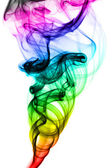 Abstract colorful smoke patterns on white — Stock Photo