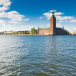 Stock Photo: Stockholm city hall and blue sky