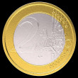 2 Euro: EU currency coin — Stock Photo