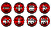 Collection set of media controls — Stock Photo