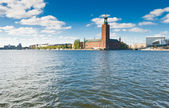 Stockholm city hall and blue sky — Stock Photo