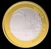 2 Euro: EU currency coin — Stock Photo