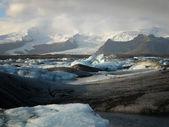 Jokulsarlon, buzul gölü — Stok fotoğraf