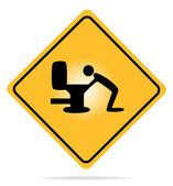 Warning, hangover sign — Stock Vector