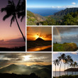 Hawaii collage with multiple typical photos - Stock Photo