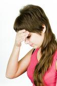 девочка головной боли — Стоковое фото