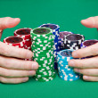 Winning poker - Stock Photo