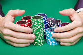 Winning poker — Stock Photo