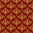 Seamless pattern on a red background — Stock Photo