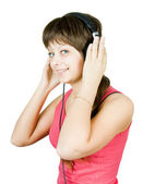 Adolescente en los auriculares — Foto de Stock