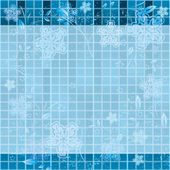 Winter abstraction. blue background — Stock Photo