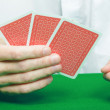 Player's hand of cards — Stock Photo #4810844