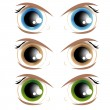 Animated eyes — Stock Vector