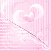 Pink romantic background — Stockvector