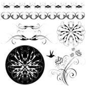 Set of patterns and ornaments — Stock Vector