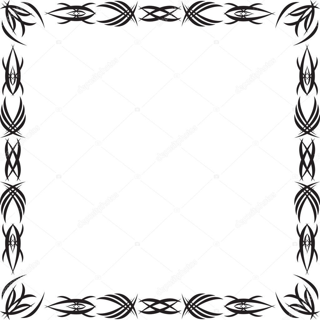 字体边框素材 哥特