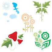 Flora and fauna — Stock Vector