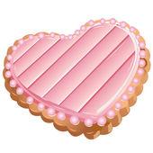 Cookie-heart — Stock Vector