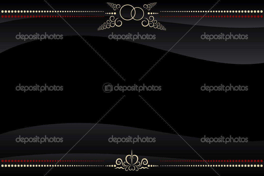 Vector black frame with golden floral pattern ornate — Stock Vector #5037003