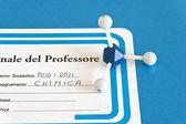 Chemistry teacher's register — Stock Photo