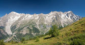 Mont Blanc massif panorama — Stock Photo