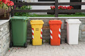 Recycling trash bins — Stock Photo