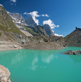 Miage lake, Courmayeur — Stock Photo