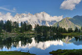 Arpy lake, Italy — Stock Photo
