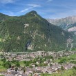 Aosta valley in Morgex — Stock Photo