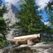 Bench in Italian Alps — Stock Photo