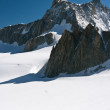 Mont Blanc - Dent du Geant and mer de glace — Stock Photo