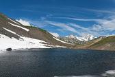 Pointe rousse liten sjö — Stockfoto