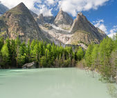 Lago Verde - Green Lake, Courmayeur, Italy — Stock Photo