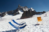 Deck-chairs on the glacier — Стоковое фото