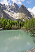 Lago Verde - Green Lake, Courmayeur — Stock Photo
