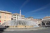 De Ferrari square in Genova, Italy — Stock Photo
