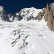 Mont Blanc massif and Mer de Glace glacier — Stock Photo